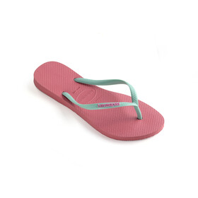 havaianas Slim Logo Flips Women porcelain rose/green dew